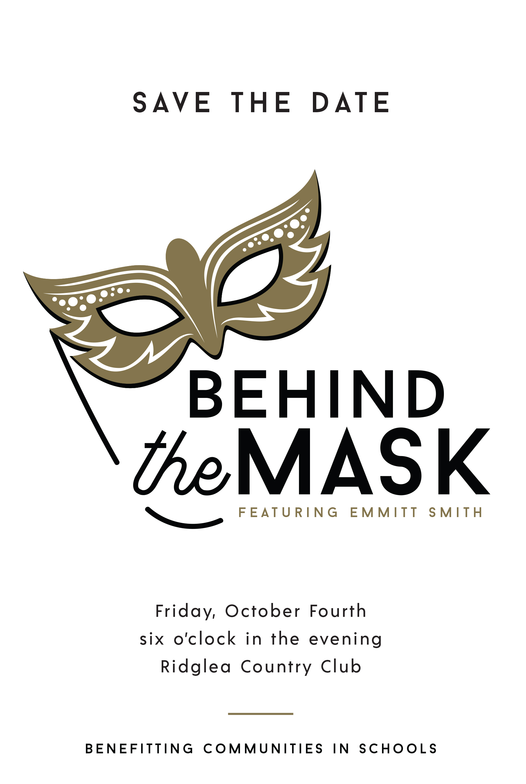 mask save the date